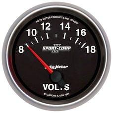 AutoMeter Products 7691 2-5/8in Voltmeter, 8-18V, SSE