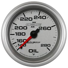 AutoMeter Products 7741 Sport-Comp II 2-5/8in Oil Temp, 140- 280F, 6' Tubing, Mech