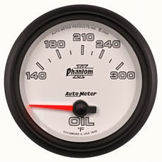 AutoMeter Products 7848 Gauge; Oil Temp; 2 5/8in.; 140-300deg.F; Electric; Phantom II
