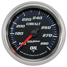 AutoMeter Products 7941 Gauge; Oil Temp; 2 5/8in.; 140-280deg.F; Mechanical; Cobalt