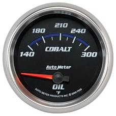 AutoMeter Products 7948 Gauge; Oil Temp; 2 5/8in.; 140-300deg.F; Electric; Cobalt