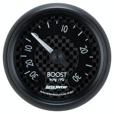 "AutoMeter Products 8003 2-1/16"" Vac/Boost 30/30psi FSM GT Series"