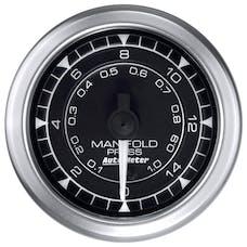 "AutoMeter Products 8150 Manifold Pressure Gauge 2 1/16"", 15PSI Digital Stepper Motor, Chrono"