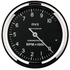 AutoMeter Products ST901096 Tacho Chronotronic 80mm Blk 10k RPM