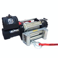 Bulldog Winch 10027 12500lb Alpha Series winch, 90ft wire rope, Roller Fairlead
