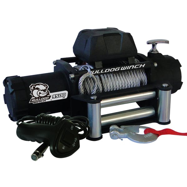 Bulldog Winch 10042 9500lb Winch with 5.5hp Series Wound Motor, Roller Fairlead