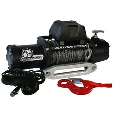 Bulldog Winch 10044 8000lb Winch w/5.2hp Series Wound Motor,100ft Synthetic Rope, Alum Frld