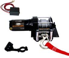 Bulldog Winch 15002 3000lb ATV Winch with Mini-Rocker Switch, Mounting Channel, Roller Fairlead
