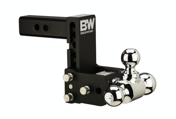 B&W Towing TS10048B 8 Blk T&S, Tri-Ball-Boxed