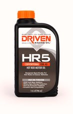 Driven Racing Oil 03806 HR5 Conventional 10W-40 Hot Rod Motor Oil (1 qt. bottle)