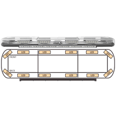"ECCO 14-00006-E Axios 14 Series Modular LED Lightbar (48"", 12 LED/Safety, DropLock Power Rails)"