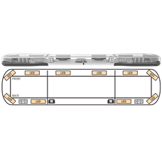 "ECCO 14-00007-E Axios 14 Series Modular LED Lightbar (54"", 10 LEDs, DropLock Power Rails)"