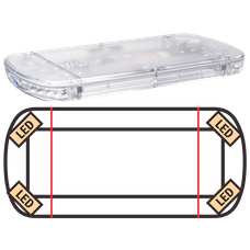"ECCO 15-00011-E StreetLazer 15 Series LED Minibar (23"", 4 TIR Optic LEDs, Amber)"