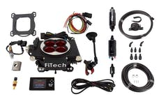 FiTech 31004 Go EFI 4 Power Adder System Kit (Matte Black, 600 HP, Inline Fuel Pump)