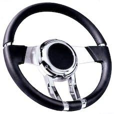 Flaming River FR20150 Steering Wheel   WaterFall  14in Black Leather