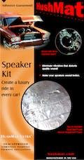 Hushmat 10110 Speaker Kit has 2 black sheets of 10x10 in Ultra. Total 1.4 sqft.