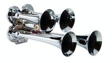 Kleinn Automotive Air Horns 141 Compact quad air horn with chrome plated zinc alloy trumpets