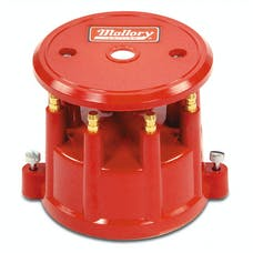 Mallory 208M Distributor Cap, Screw Down, Red