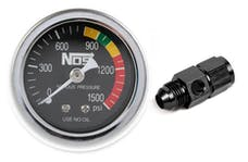 NOS 15951NOS Gauge,N2O,Black with AN8 Adapter, Dry