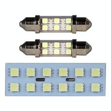 Pilot Automotive ILT-201W Ford Dome Light Kit, Wht