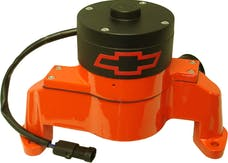 PROFORM 141-655 Electric Engine Water Pump; Aluminum; Orange with Bowtie Logo; Fits SB Chevy
