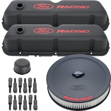 PROFORM 302-500 Engine Dress-Up Kit; Black Crinkle w/ Red Ford Racing Logo; Fits SB Ford Engines