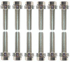 Proform 66754 Wedge-Locking Header Bolts; Hex Head; M8 X .984in; Chevy LS; Nickel Plt; 12 Pcs