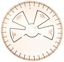 PROFORM 66791 Camshaft Degree Wheel; 9 Inch Diameter; With Instructions