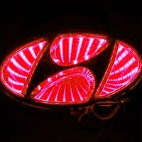 Race Sport Lighting RS-3DLED-HYUN-R 3D LED Logo Badge (Red)
