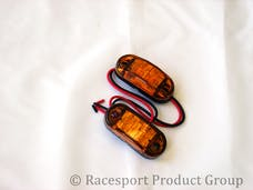 "Race Sport Lighting RS-O2.5-2HA 2.5x1"" Amber Marker (w/ 2 Hole Mount)"