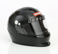 Racequip 273003 Pro15 Full Face Snell Race Helmet (Gloss Black, Medium)