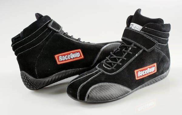 RaceQuip 30500140 Euro Carbon-L Series SFI Racing Shoes (Black, Size 14.0)