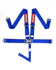 Racequip 711021 SFI 16.1 Latch & Link 5-Point Racing Harness Set (Blue)