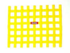 "Racequip 721035 Non-SFI Ribbon-Style Race Car Window Net (Yellow, 18""x24"")"