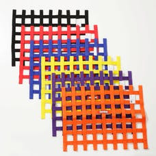 "Racequip 725045 SFI 24.1 Ribbon-Style Race Car Window Net (Orange, 18""x24"")"