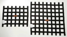 """Racequip 726007 SFI 24.1 Ribbon-Style Race Car Window Net (Black, 21""""x24"""")"""