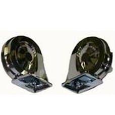 RPC (Racing Power Company) R1011 Dual chrome hi-lo car horn kit-w/relay