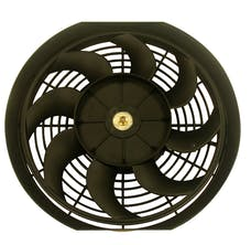 "RPC (Racing Power Company) R1012 12"" universal cooling fan w/curved blades 12v"
