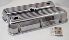 RPC (Racing Power Company) R6175 Sb ford aluminum valve covers - tall finned with