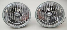 """RPC (Racing Power Company) R7420 7"""" headlight with turn signal clear lent"""