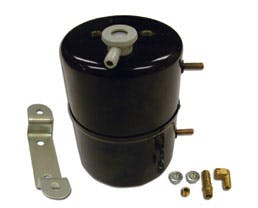 RPC (Racing Power Company) R9970 BLACK STEEL VACUUM SYSTEM RESERVOIR TANK
