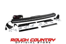 Rough Country 70625 Single Row LED Light Bar Hidden Grille Mount w/ 30-inch CurvedLight Bar