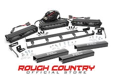 Rough Country 70641 8-inch Black Series Vertical LED Light Bar Grille Kit (3 Lights)