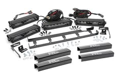 Rough Country 70643 8-inch Black Series Vertical LED Light Bar Grille Kit (4 Lights)