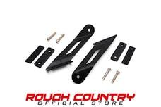 Rough Country 70533 20-inch Single or Dual Row LED Light Bar Hood Mounting Brackets (Jeep JK / JKU)
