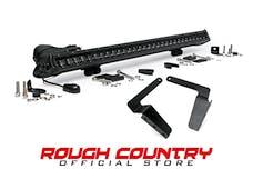 Rough Country 70657 30-inch Black Series Single Row LED Light Bar & Hidden Bumper Mounts Kit