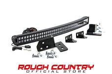 Rough Country 70682 40-inch Black Series Dual Row CREE LED Light Bar & Hidden Bumper Mounts Kit
