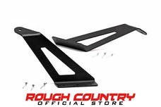 Rough Country 70515 50-inch Curved LED Light Bar Upper Windshield Mounting Brackets