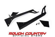 Rough Country 70508 50-inch Straight LED Light Bar Upper Windshield Mounting Brackets (Jeep YJ)