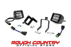 Rough Country 70535 2-inch Chrome Series CREE LED Fog Light Kit (Ford Super Duty)